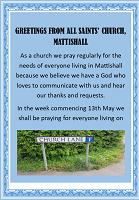 Praying for people in Church Lane.