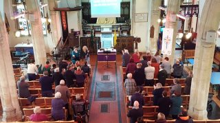 Joint service for both congregations and R&R project presentation