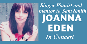 Singer/songwriter & mentor to Sam Smith, Joanna Eden, brings her songs to the beautiful All Saints Church in Mattishall.