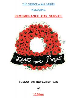 Welborne - Remembrance Sunday Service